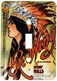 3dRose lsp_169969_1 Ogalalla Indian Love Song, Native American Woman and Cowboy on Horses - Single Toggle Switch