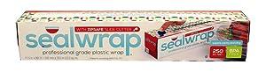 AEP Industries zp12250C Seal Wrap Professional Grade Plastic Wrap, Zip Safe Slide Cutter, Clear