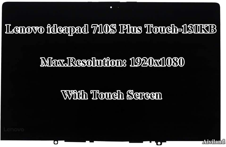 """13.3"""" FHD 1920x1080 LCD Screen Display Touch Screen Bezel Assembly for Lenovo ideapad 710S Plus Touch-13IKB 80YQ"""