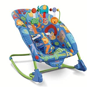 Fisher-Price Deluxe Infant to Toddler Rocker, Alpha Fun (Discontinued by Manufacturer) (Discontinued by Manufacturer)