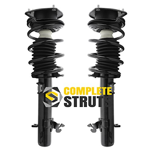 Front Quick Complete Struts & Coil Spring Assemblies Compatible with 2008-2014 Mini Cooper Clubman (Pair)