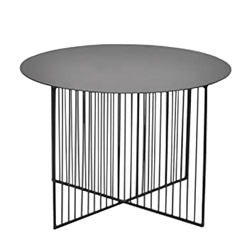 YZZY Side Table Nordic Wrought Iron Round Coffee Table, Living Room  Creative Tea Table Modern