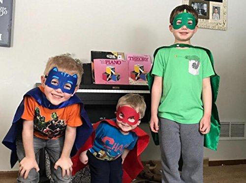 Superhero Masks Costumes and Dress up For Kids - Superhero Catboy Owlette Gekko Capes and Masks 3PCS