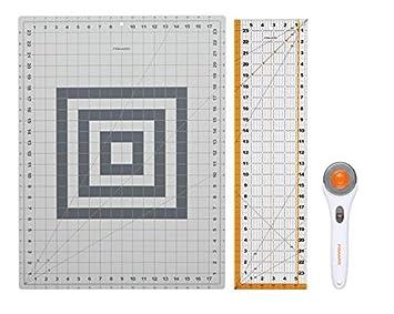 Amazon.com: Fiskars 3 Piece Rotary Cutting Set : quilt rulers for rotary cutting - Adamdwight.com