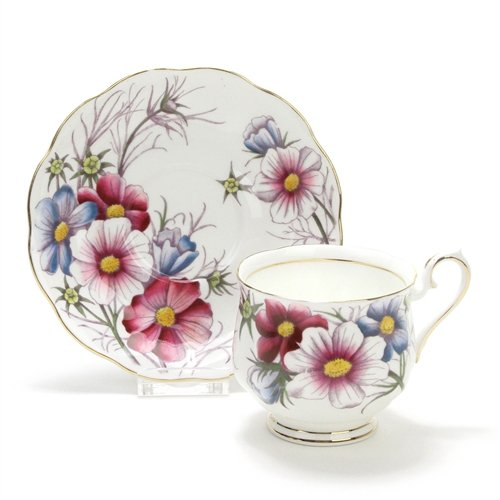 Flower of the Month by Royal Albert, China Cup, Saucer & Plate (Royal Albert Flower Of The Month Tea Cups)