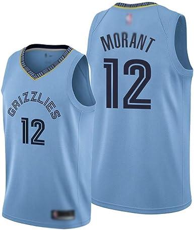 QQVV Camiseta de Baloncesto # 12 Ja Morant Fan Camiseta sin ...