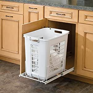 Rev A Shelf Rshprv.1520 S 14-.25 In. W Rev-A-Shelf Polymer Pull-Out Hamper - White