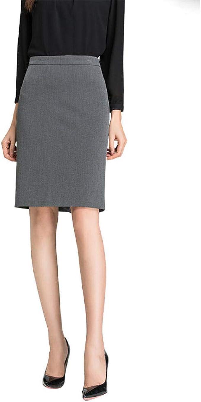 SJHJA Faldas para Mujer Bolso Profesional Falda Cadera Traje ...