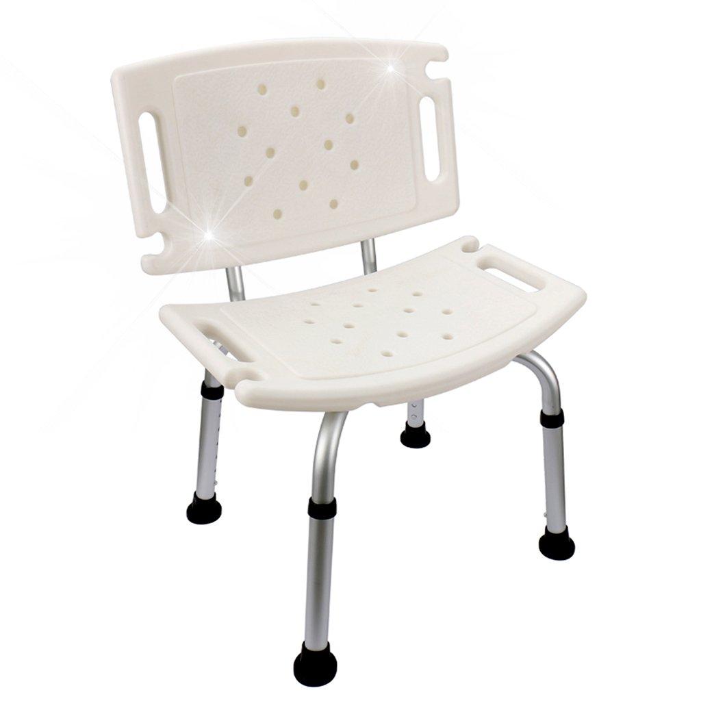 最終値下げ バスルームスツール 高齢者のためのバスチェアアルミシャワーチェア B07G5TFXSQ バスルームシャワーチェア妊娠中のバスルームスツール ホームバススツールノンスリップ スーパーローディング(ホワイト) B07G5TFXSQ, ショップUQ:513009f0 --- ciadaterra.com