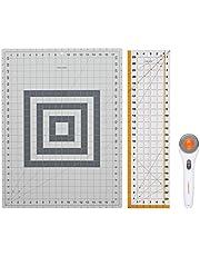 Fiskars Crafts 95237097J Rotary Sewing Cutting Set (3 Piece), Grey