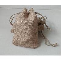 8 x 12 New Burlap Bags With Jute Drawstring - Pack Of 50 Bags