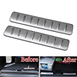 UltimaFio - 2pcs Stainless Steel Scuff Plate Door Sill Trim Cover Frame Decoration Sticker fit for 2012-2015 Range Rover Evoque Car Styling