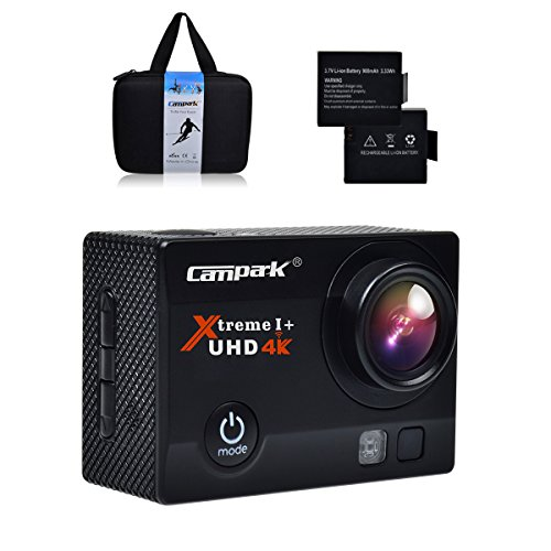 Campark 4K 30fps WiFi Ultra HD Waterproof Sports Action Camera,SONY Sensor,Time Lapse,Slow Motion, $19 Extra Gift included. Action Cameras CAMPARK