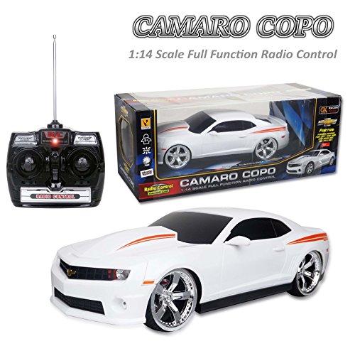 Radio Remote Control 1/14 2012 Chevrolet Camaro ZL1 R/C Car Large Licensed Electric RTR 1:14 Scale (White)