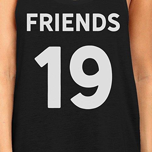 tama desde personalizados estampada a de sin os 365 Negro Un o mujeres Amigos mangas Camiseta vT0qx