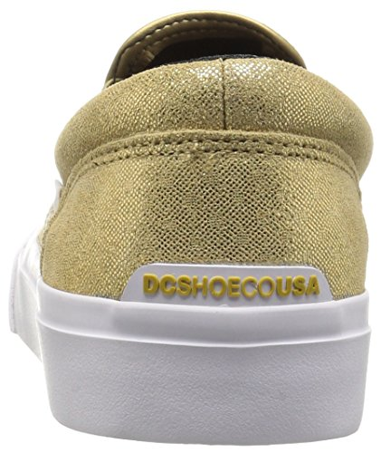 DC Womens Trase Slip-on XE Skateboarding Shoe Gold
