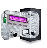 Oppolite 300W LED Grow Light+24″x24″x48″ 600D Grow Tent W/Metal Corners&Window Indoor Hydroponic System Kit (LED300W+24″X24″X48″W/Window) For Sale