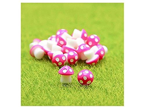 Flowerrs Jardín de Hadas Mini Setas de PVC Casa Miniatura Jardín de Hadas Micro Paisaje Jardín Decoración Macetas Bonsai Craft Decor (Rose Red) Decorativo: ...