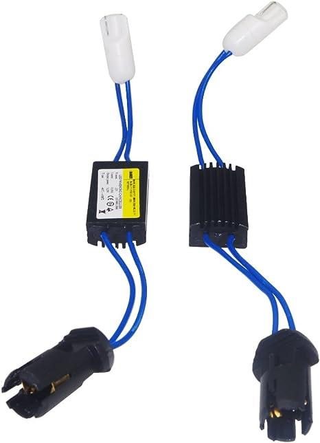 Haobase 2 Stück Warning Canceller Canbus Widerstände T10 W5w Beseitigt Leuchtfehler Led Leuchten Auto