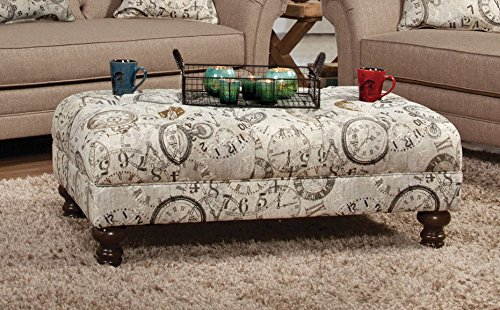 Serta Upholstery 8750OT 8750OT05 Restoration Style Ottoman in Timeless, Patina (Timeless Sofa Traditional)