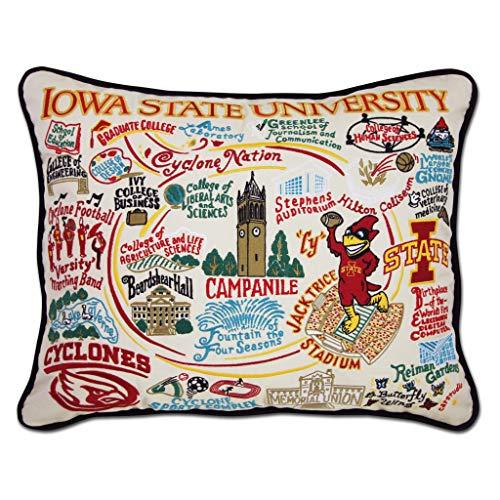 - catstudio- Iowa State University Embroidered Throw Pillow- 16