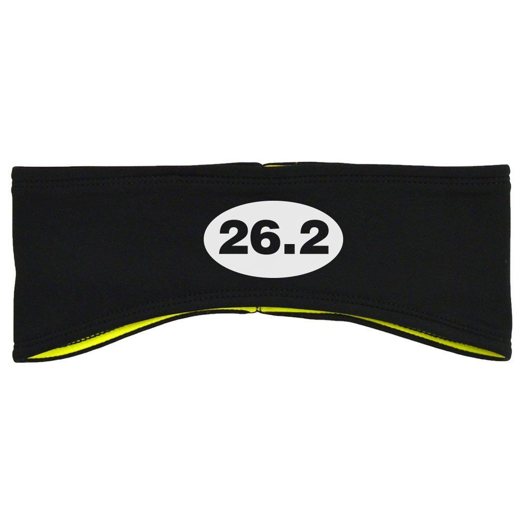 Gone For a Run Running Reversible Performance Headband 26.2 Euro Style - Black Yellow