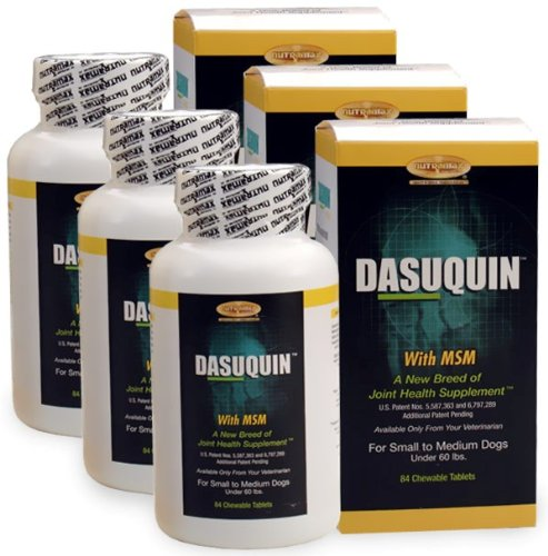 3-PACK Dasuquin for Small/Medium Dogs under 60 lbs. with MSM (252 Chews), My Pet Supplies