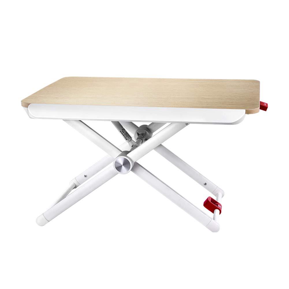 PENGFEI ノートパソコンスタンドベッドテーブル折りたたみ可能 ラップトップテーブル 多機能 ポータブル オフィスワークベンチ 手ガードボードでは、 高さ75-380MM調整 (色 : 木の色, サイズ さいず : 600x410MM) 600x410MM 木の色 B07H1GQ558