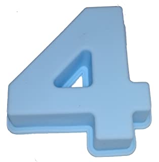 Reich Piedra & Kaufmann Molde de Silicona Número Cumpleaños Aniversario, Silicona, Azul Claro,