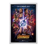 SnapeZo Movie Poster Frame 27x40 Inches, Silver 1.2'' Aluminum Profile, Front-Loading Snap Frame, Wall Mounting, Premium Series for One Sheet Movie Posters