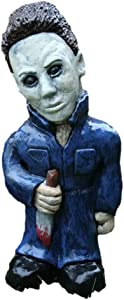 Garden Gnomes Nightmare Statue Horror Movie Freddy Jason Michael Myers Leatherface Killer Sculpture Patio Lawn Figurines Decoration Ornament 5 inch - Michael Myers