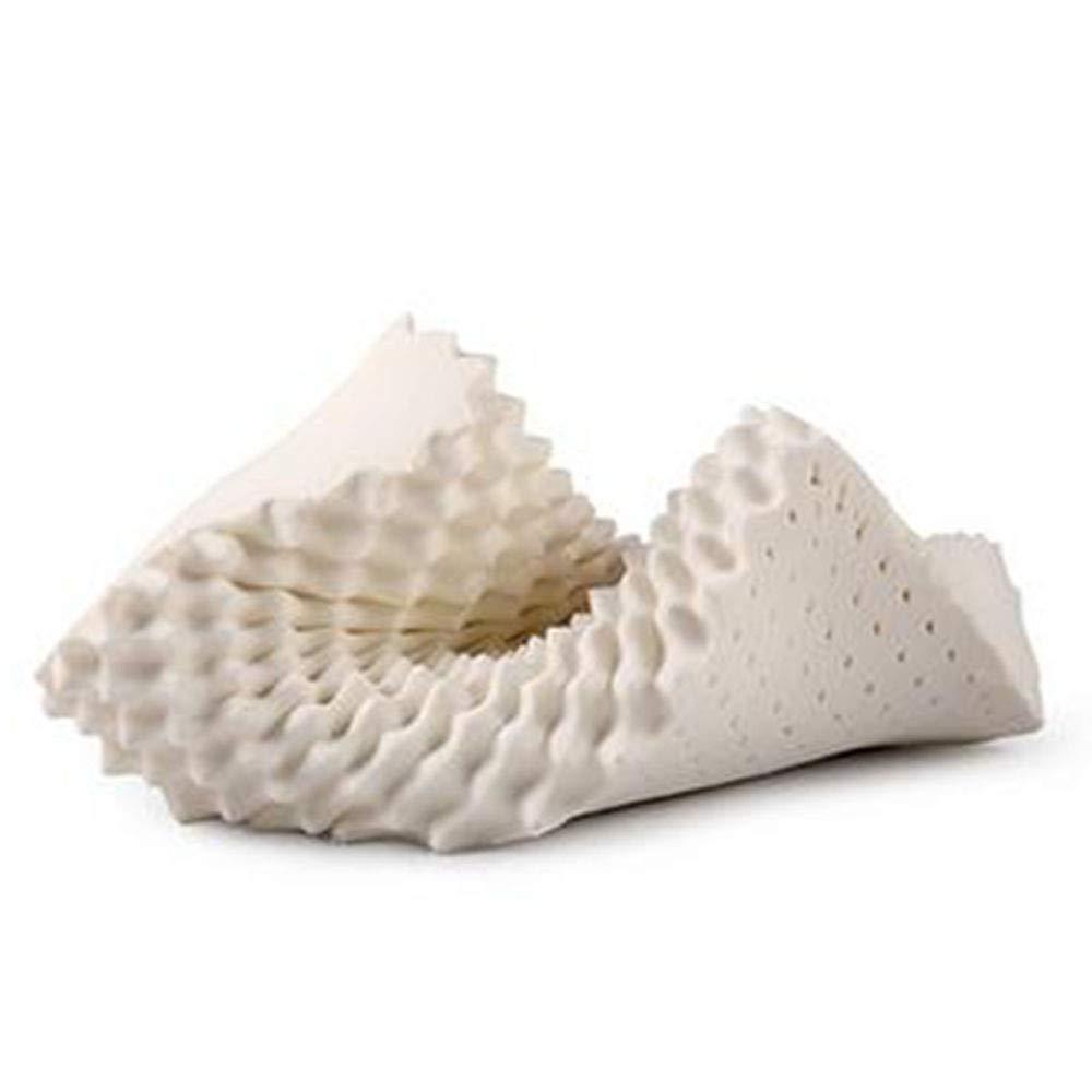 YANMMll Pure Naturlatex Kissen Heilung Halswirbel Gesundheitswesen,Weiß-A(60  38  13cm)