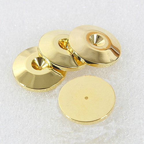 4pcs 25mm Isolation Floor Spikes pads Speaker Box Floor Stand Pad Cone Base Pad (Gold) (Foot Spike)