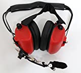 Noise Cancelling Pilot VOX Headset for Motorola Gp340 Gp328 Gp380 Mini DIN (Red)