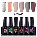 Coscelia 6Pcs Gel Polish UV LED Soak Off Varnish Manicure Pedicure Gel Nail Polish Sets 10ml