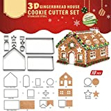 Cookie Cutter Set Stainless Steel Cake Biscuit Cookie Cutter Mold DIY Baking Pastry Tool Bake Your Own Small Gingerbread House Kit