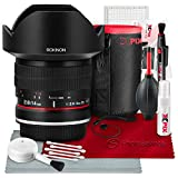 Rokinon 14mm f/2.8 IF ED UMC Lens For Nikon with AE Chip (FE14MAF-N) with Deluxe Accessory Bundle and Xpix Cleaning Kit