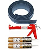 Auto Care Products Inc 51018 18-Feet Tsunami Seal Garage Door Threshold Seal Kit, Gray by Auto Care Products Inc.