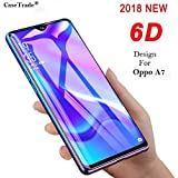 Case Trade 6D Anti Scratch Curved 9H Full Tempered Glass Screen Protector for Oppo A7 (Black)