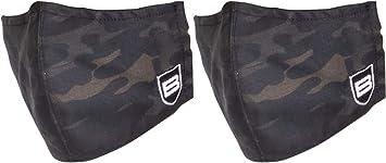 B Breakthrough Clean Technologies, Tactical Face Mask - Black Camo (2 Pack)