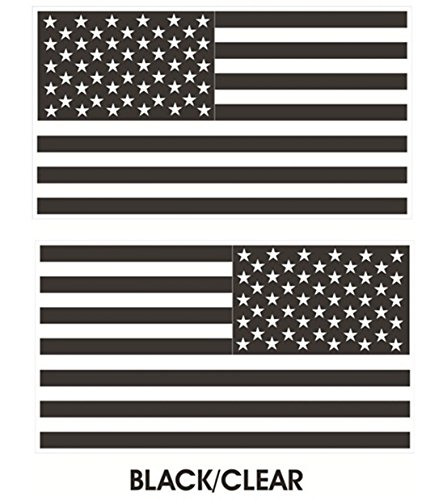 1 Pair Sublime Popular Black-Clear Subdued Flag Stickers Sign USA Tactical Car Decal Vinyl Size 4