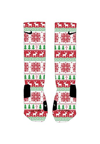 Elevate Apparel and Gear Men's Ugly Sweater Custom Nike Elites Socks Large 8-12