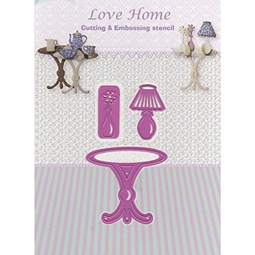 Ecstasy Crafts JC20339 Joy! Crafts Cut and Emboss Die, Love Home Table Lamp Cupboard