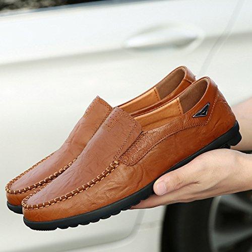 Cordones Planos Seaoeey Zapatos Con Marrón Hombre Yxw08pwq