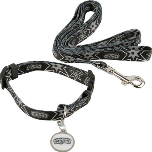 Hunter San Antonio Spurs Pet Combo Set (Collar, Lead, ID Tag), Large