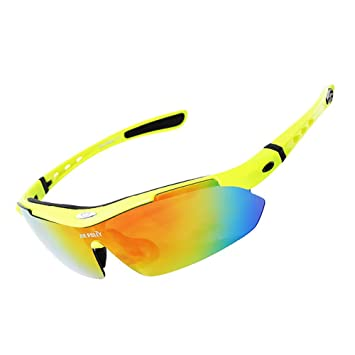 HECHEN Gafas Deportivas Gafas De Sol Polarizadas Protección UV Ciclismo Pesca Esquí Alpino 5 Grupos De