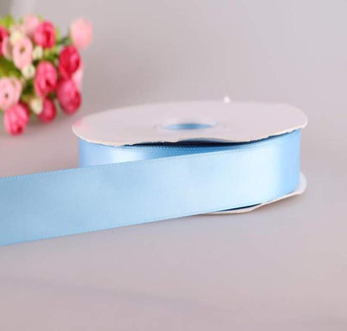 MINGZE 91m * 2.5cm Cinta de raso satén de color sólido, Cinta de Seda Tela, Cinta para manualidades, Envoltura de paquetes de regalo, Confección de clips y ...