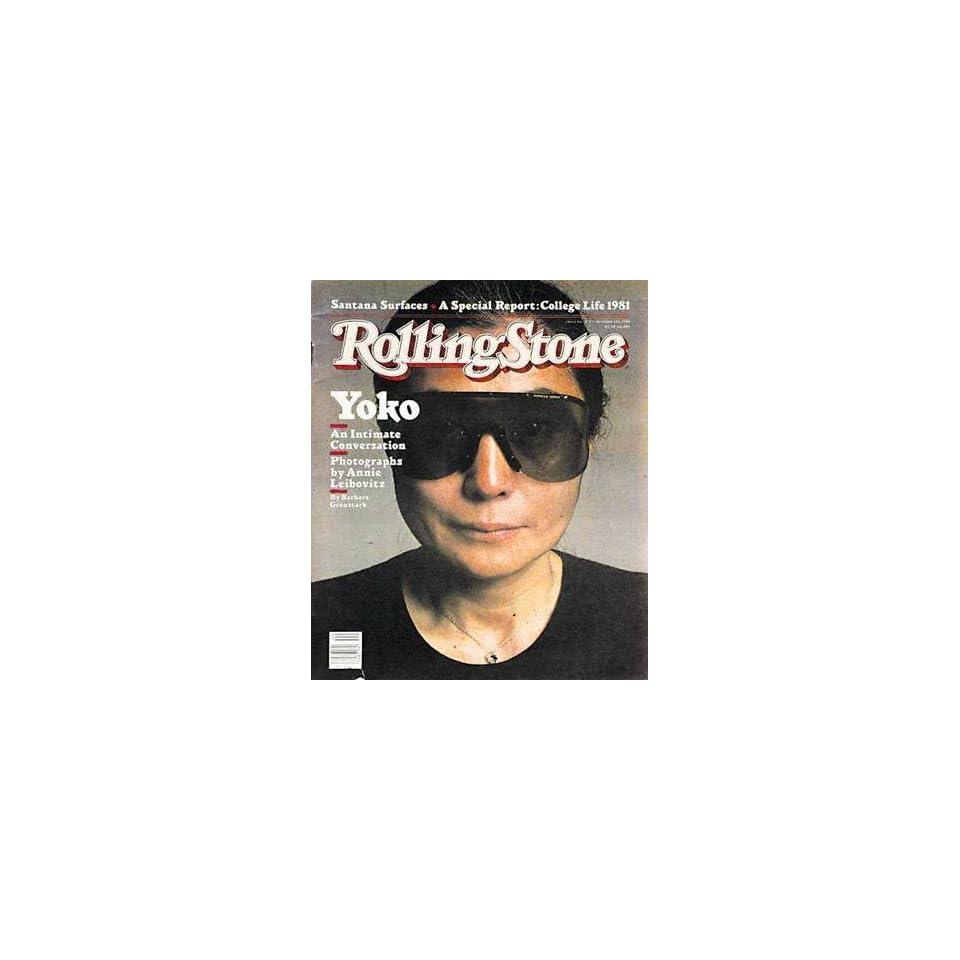 Rolling Stone Magazine # 353 October 1 1981 Yoko Ono (Single Back Issue)