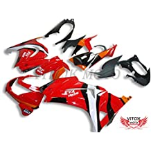 VITCIK (Fairing Kits Fit for Kawasaki EX250R Ninja 250 EX-250R ZX250 2008 2009 2010 2011 2012) Plastic ABS Injection Mold Complete Motorcycle Body Aftermarket Bodywork Frame (Red & Black) A047