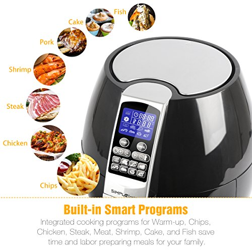 1400W Simple Taste Multi-function Electric Air Fryer, 3.2 QT